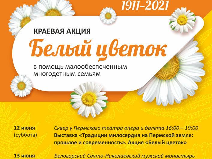 В перми пройдет краевая акция «Белый цветок»