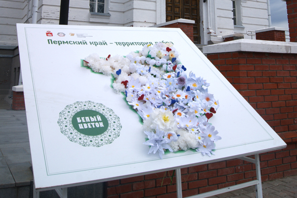 Акция «Белый цветок» прошла на территории Белогорского монастыря
